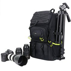 Extra LARGE Camera DSLR//SLR Backpack For Outdoor Hiking Trekking W 15.6 Laptop C