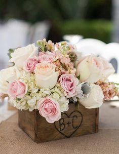 Photographer: Kevin Le Vu Photography; Wedding reception centerpiece idea;