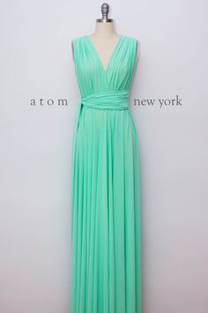 Green Mint LONG Floor Length Ball Gown Maxi Infinity Dress Convertible Formal Multiway Wrap Dress Bridesmaid Dress Evening Dress Toga Dress