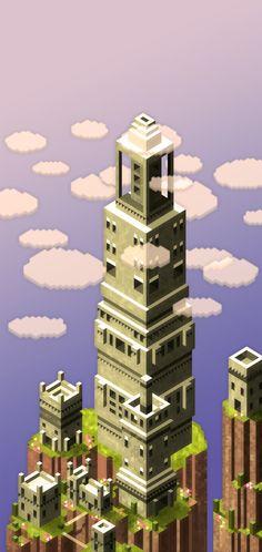 maaot:  Babel Tower. Hexels + Photoshop