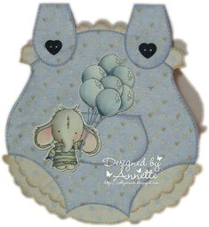 There's an adorable new baby themed release due tomorrow at Lili of the Valley and I've made this card using one of the cute new images. Card Tags, Cards, The Balloon, Lily Of The Valley, Embroidery Thread, Watercolor Paper, New Baby Products, Balloons, Card Making