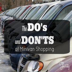 Do's and Don'ts of Minivan Shopping