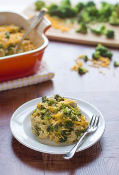 Healthy Cheesy Chicken Broccoli Rice Casserole Recipe. Simple, tasty, and good for you too!