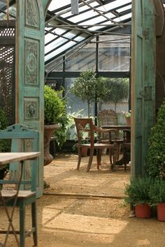 Outdoor/Indoor space greenhouse! [Petersham Nurseries] by reva