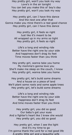 Hey pretty lady lyrics