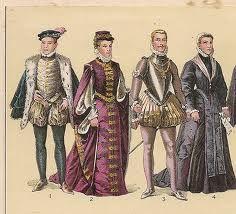 Estas vestimentas eran la que llevaban las personas de dinero en aquella época (XV).