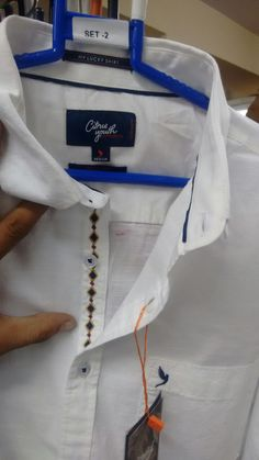 b8b32c125260f Men s shirt detailing. embroidery detail. casual.