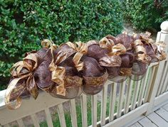 Fall Swag, Deco Mesh Swag, Fall Wreath, Autumn Table Decoration, Fall Centerpiece, Deco Mesh Wreath. $149.00, via Etsy.