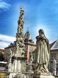 Immaculata Plague Column, erected after the end of an eoidemic in 1710, Kosice, Slovakia http://easyhiker.co.uk