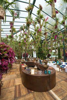 Decoração com bromélias por Antônio W. Neves da Rocha - Flores de Clarice Mukai - Foto GreiFotografia.com