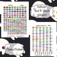 Free printable and custom planner stickers including free functional and decorative stickers as well as free kits and samplers!