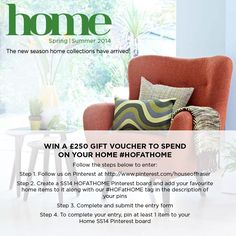 Pin for your chance to win a £250 House of Fraser gift voucher! #HOFatHOME
