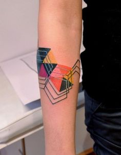 abstract geometric figures with a bit of colour are very modern
