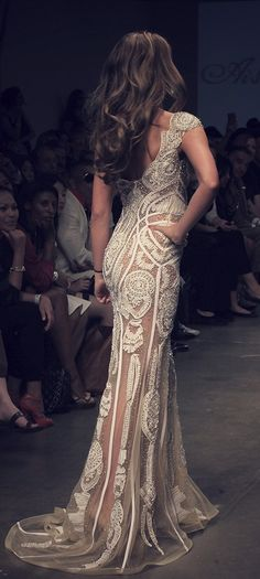 Absolutely Beautiful......Lace gown / AISHA X ARTINI by DANY TABET