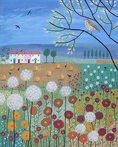 Watercolor Painting Techniques, Watercolor Art, Painting Gallery, Art Gallery, Landscape Art, Landscape Paintings, Verge, Nature Illustration, Button Art