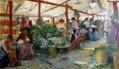 Le marché aux fruits PIO JORIS (Roma, 8 giugno 1843 – Roma, 6 marzo 1921)    #TuscanyAgriturismoGiratola