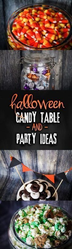 Put your holiday candy to use by hosting a Halloween party complete with candy table and holiday decor! Some wicked Halloween candy table & party ideas. Halloween Popcorn, Halloween Ideas, Halloween Sweets, Holiday Candy, Holiday Ideas, Adult Birthday Party, 3rd Birthday, Birthday Cakes, Food Themes