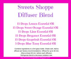 Sweets Shoppe Diffuser Blend