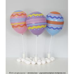 Easter Egg Balloons  #Easter Celebrations: #DIY Projects