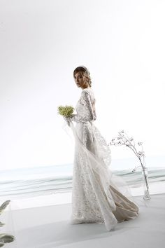 Long sleeve lace A-line wedding dress. | Le Spose Di Gio | Style: 331