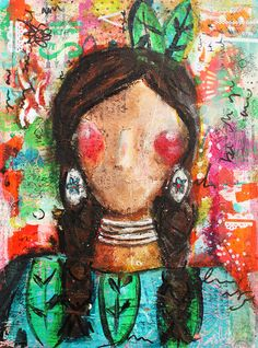 Seaker of Truth:  Mixed Media Original Canvas by Christy Tomlinson