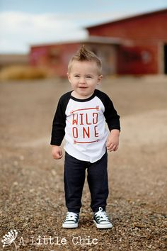 Wild One - Boho - Arrow - Unisex sleeve - Raglan Tee - Infant - Toddler Tee - 32 colors to choose from Baby Boy Hairstyles, Toddler Boy Haircuts, Toddler Hair, Infant Toddler, Toddler Boys, Baby's First Haircut, Baby Haircut, Hipster Babies, Cute Toddlers