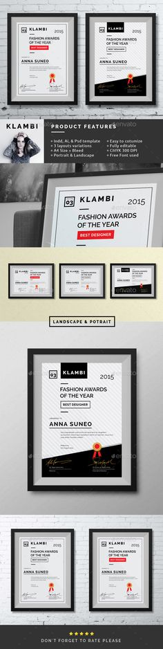 Fashion Certificate Template PSD, Vector AI, INDD. Download here: http://graphicriver.net/item/fashion-certificate/10140478?ref=ksioks