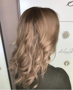 Hair color beige blonde by milkshake Milkshake Hair Products, Beige Blonde, Hair Colors, Hair Inspiration, Trends, Long Hair Styles, Beauty, Shaving Machine, Barber Shop Names