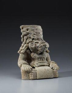 Zapotec Figural Urn, Monte Alban III, ca. A.D. 550-750 Earthenware 213H