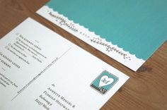 Oh So Beautiful Paper: Annette + Florian's Illustrated Floral Wedding Invitations