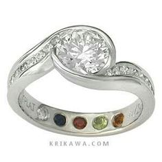 Different inside gem ring