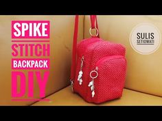 Crochet    spike stitch backpack - YouTube Stitch Backpack, Diy Backpack, Fashion Backpack, Best Safes, Backpack Pattern, Safe Cleaning Products, Crochet Designs, Youtube, Pattern Sewing