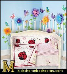 Pretty_in_Pink_lady_bug_baby_bedding-Create_a_Garden_Room_Picket_Fence.jpg (262×289)