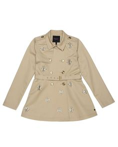Embellished Trench Coat   Juicy Couture