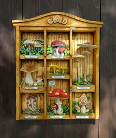 Woodcarving- Houbář od Tomáš Hejhal (Hejkalíci) Bookcase, Shelves, Woodcarving, Furniture, Search, Google, Home Decor, Shelving, Decoration Home
