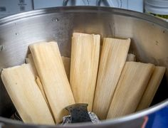 Here's an easy tamales recipe to keep in mind for weeknight dinners. Using leftovers for the tamale filling really simplifies the process! Beef Tamale Filling Recipe, Ground Beef Tamales Recipe, Tamale Masa Recipe, Masa Recipes, Raw Food Recipes, Cooking Recipes, Freezer Recipes, Freezer Cooking, Drink Recipes
