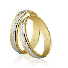 Alianzas de boda Oro 1ª Ley 18Kts. bicolor 4mm Argyor ref. 5240283 18K #alianças #alianzas