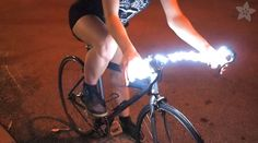 Inspired by Mitchell Silva's Globars, our friend Becky at Adafruit created a DIY version of his illuminated bicycle handlebars. Man Stuff, Cool Stuff, Diy Led, Fixed Bike, Bike Handlebars, Bike Parts, Burning Man, My Best Friend, Cycling