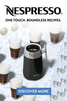 With the Nespresso Barista Recipe Maker bring the coffee shop home and cool off with an Iced Nitro or Iced Frappe. One touch. Boundless recipes.