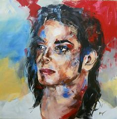 Michael Jackson, Portrait Acrylic, Color Schemes, Etsy Shop, Studio, Canvas, Pictures, Painting, Art