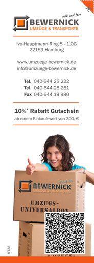 10 % Rabatt Gutschein für Ihren nächsten Umzug ;)