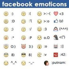 Emoticons for FB posts & comments! Facebook Emoticons, O 8, Le Web, For Facebook, Facebook Quotes, Things To Know, Good To Know, Helpful Hints, Funny Quotes
