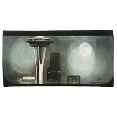 Seattle Space Needle Black, White & Grey Wallets