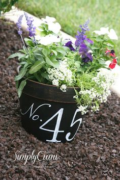 DIY terracotta planter & address flower pot
