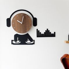 Buy the DJ Ultra Quiet Wall Clock for your home bar or music room. Find cool, imaginative wall clocks for any room at the Apollo Box. Dj Dj Dj, Apollo Box, Hobby Room, Clock Decor, Wood Clocks, Wall Installation, Easy Wall, Room Wall Decor, Bars For Home