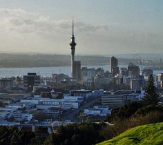 City center of Auckland, New Zealand in 1998.  Photography by David E. Nelson