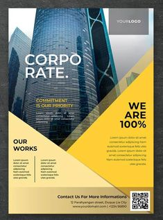 _Corporate Flyer_ **Features:** - Easy Customize & Editable - Size 297 x 210 mm' - CMYK - Print Ready - - Working file adobe Indesign - Indesign File (. Poster Design Software, Pamphlet Design, Leaflet Design, Flyer Design Templates, Flyer Template, Brochure Template, Corporate Invitation, Corporate Flyer, Business Flyer