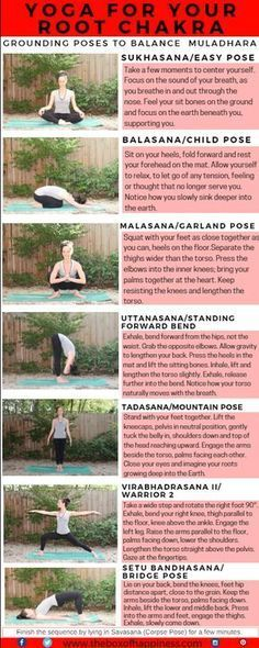 Yoga Sequence for the Root Chakra. The root chakra, Muladhara, is associated with grounding, basic needs, survival and safety. First post in a series of yoga sequences for the chakras.