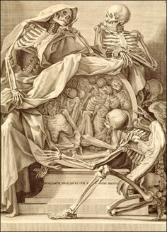 Copperplate engraving by Bernardino Genga, an anatomist & Charles Errard, an artist (1609?-1689) in Rome, 1691