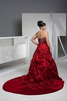 plus size red dress 16289269